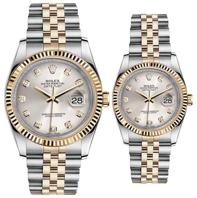 Điểm mặt những mẫu đồng hồ đôi rolex ấn tượng