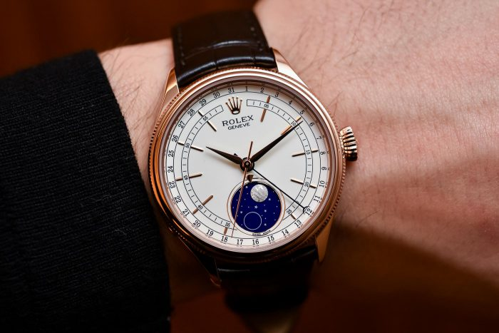 Sự mê hoặc của dòng chiếc đồng hồ rolex cellini dây da