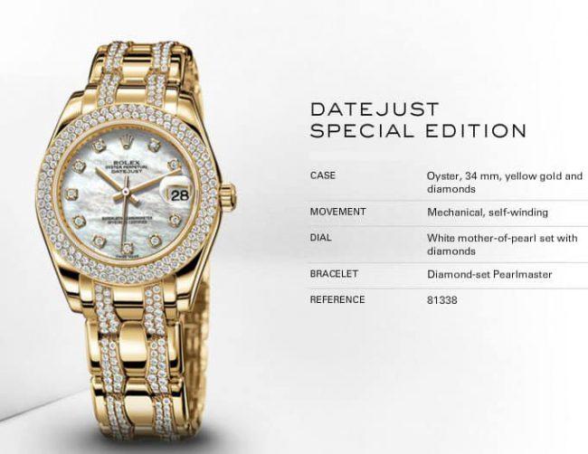 Gọi tên những chiếc đồng hồ rolex dây kim loại đắt giá nhất cho phái đẹp