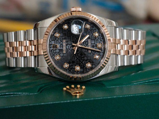 Ấn tượng với sản phẩm rolex mặt vi tính màu đen Rolex Datejust 36
