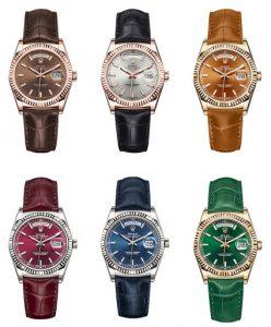 2 chiếc đồng hồ Rolex dây da nữ đốn tim các quý bà