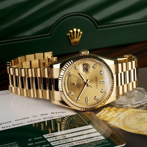 Đồng hồ vàng Rolex – Vẻ đẹp của huyền thoại, rực rỡ