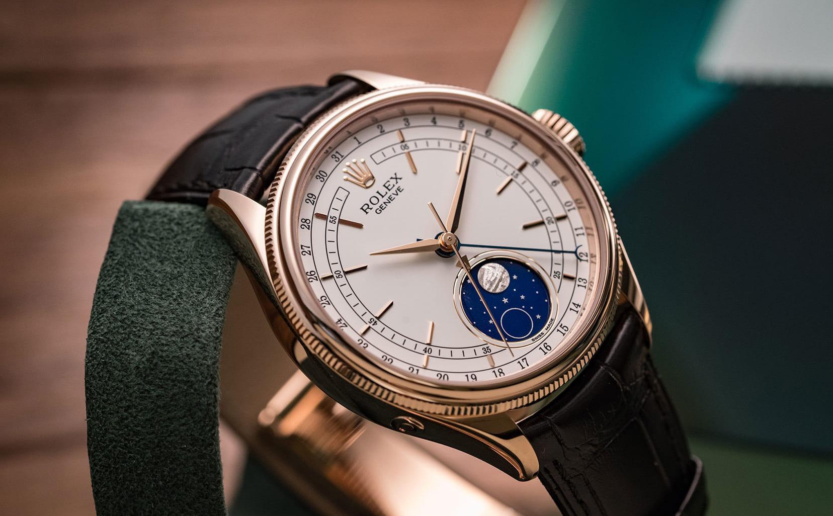 Top 7 đồng hồ nữ Rolex dây da