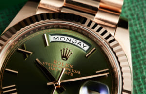 Đồng hồ Rolex nữ mặt xanh Oyster Perpetual Day-Date 40